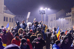 2017 - Romanians protests against prisoner pardon plan. Brasov, Stock Images
