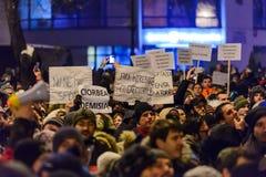 2017 - Romanians protests against prisoner pardon plan. Brasov, Royalty Free Stock Photo