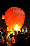 Romanians salute King Michael with hot air balloons on his name day Royalty Free Stock Photos