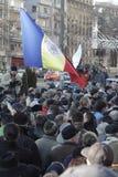 Romaniansprotest för den 3rd dagen mot regering Royaltyfri Foto