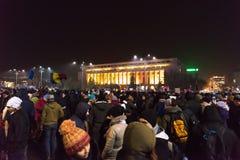 Romaniansprotest mot regering Royaltyfri Fotografi