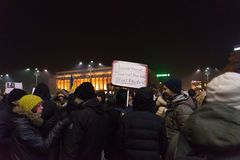 Romaniansprotest mot regering Royaltyfri Foto