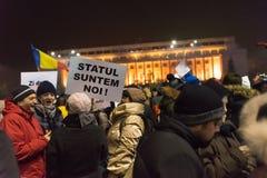 Romaniansprotest mot regering Fotografering för Bildbyråer