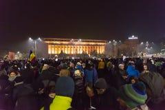 Romaniansprotest mot regering Arkivbild