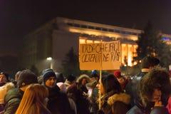 Romaniansprotest mot regering Arkivfoto
