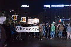 Romaniansprotest mot regering Arkivfoton