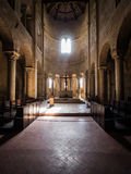 Romanic basilica church interior Stock Photography