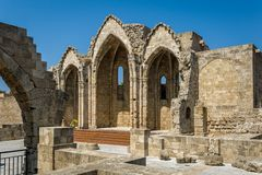Romanic basilica ruins Stock Photography