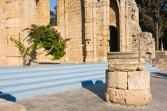 Romanic basilica ruins, old town of Rhodes, Greece Royalty Free Stock Photo