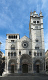 The romanic Cathedral of Genoa, Italy Stock Photography