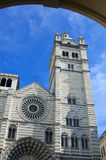 The romanic Cathedral of Genoa, Italy Royalty Free Stock Photography
