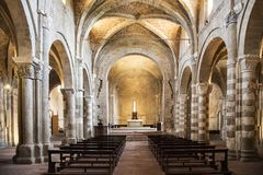 The romanic Cathedral of Sovana royalty free stock photography