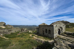 The romanic chapel of Sao Miguel Capela de Sao Miguel in the outskirts of the medieval village of Monsanto. In Portugal Stock Image