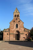 Romanic church in Alsace. Romanic church of Sigolsheim in Alsace Royalty Free Stock Photo