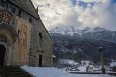 Romanic church. Of baceno in italy Stock Photography