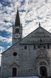 Romanic church. Facade of the romanic church of baceno Royalty Free Stock Photography