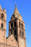 Romanic church. Of Guebwiller in Alsace Royalty Free Stock Images