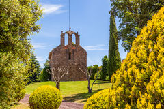 Romanic church Montseny. Sant Pere Despla, 12th century romanic church in the Montseny Natural Park, Catalonia, Spain Royalty Free Stock Images