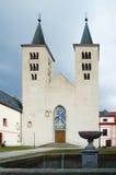 Romanic church of Nanebevzeti Panny Marie Royalty Free Stock Photos
