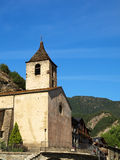 Romanic Church of Ordino. Ancient church of the beautiful medieval village of Ordino in Andorra Stock Photo