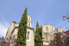 Romanic church of Saint Peter. In Figueres, a city of Girona, Catalonia, Spain Royalty Free Stock Image