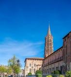 Romanic Church Saint Sernin, Toulouse. Basilica of St. Sernin (XI c.) in Toulouse, France Stock Image