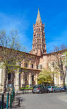 Romanic Church Saint Sernin, Toulouse. Basilica of St. Sernin (XI c.) in Toulouse, France Stock Photo