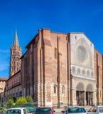 Romanic Church Saint Sernin, Toulouse. Basilica of St. Sernin (XI c.) in Toulouse, France Stock Images