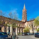 Romanic Church Saint Sernin, Toulouse. Basilica of St. Sernin (XI c.) in Toulouse, France Royalty Free Stock Photography