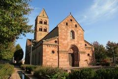 Romanic kerk in de Elzas Stock Afbeelding