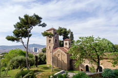 Romanic monastery of Sant Miquel in Barcelona Stock Photo