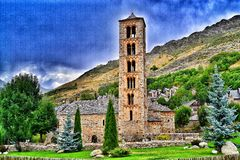 Romanische Kirche Lizenzfreie Stockbilder