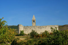 Romanische Kirche in Hrastovlje, Slowenien Stockfotos