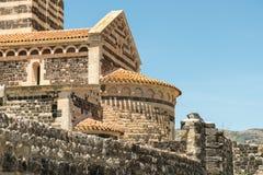 Romanische Kirche in Nord-Provinz Sardiniens Sassari Itay Stockfotografie