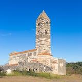 Romanische Kirche von Santa Trinita di Saccargia Stockbild