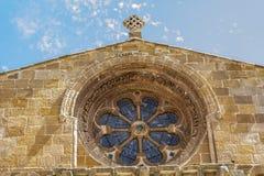 Romanische Kirche von Santo Domingo, von Soria, von Olivenölseife und von Leon, Badekurort Stockfoto