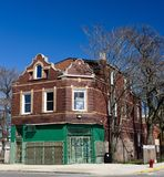Romanische Wiederbelebungs-Handels-/Wohngebäude Stockfoto