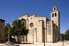 Romanisches Kloster von Sant Cugat Stockfoto