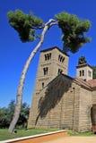 Romanisches Kloster von Sant Miquel in Poble Espanyol oder spanisches Dorf Barcelona, Spanien Stockbild