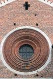 Romanisches rosafarbenes Fenster Stockfotografie