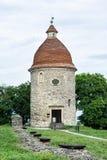 Romanisches Rundbau in Skalica, Slowakei, Architekturthema lizenzfreie stockfotos