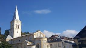 Romano-καθολική εκκλησία σε Vatra Dornei Στοκ φωτογραφία με δικαίωμα ελεύθερης χρήσης