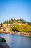 Romano και castel SAN Pietro Teatro στον ποταμό Adige στη Βερόνα, VE Στοκ εικόνα με δικαίωμα ελεύθερης χρήσης