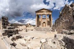 Romano antiguo el templo Fotografía de archivo