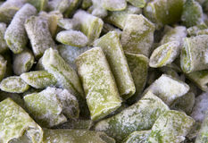 Romano beans deep - frozen Stock Image