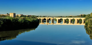 Romano Bridge, Cordoba, Spain Royalty Free Stock Photo