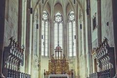 Romano Catholic Cathedral Altar, Alba Iulia, Romania Immagine Stock Libera da Diritti