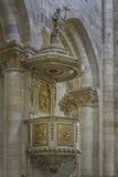 Romano Catholic Cathedral Pulpit fotografie stock