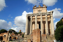 Romano de Foro em Roma/Italy Imagem de Stock Royalty Free