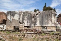 Romano de Foro em Roma, Itália Fotografia de Stock